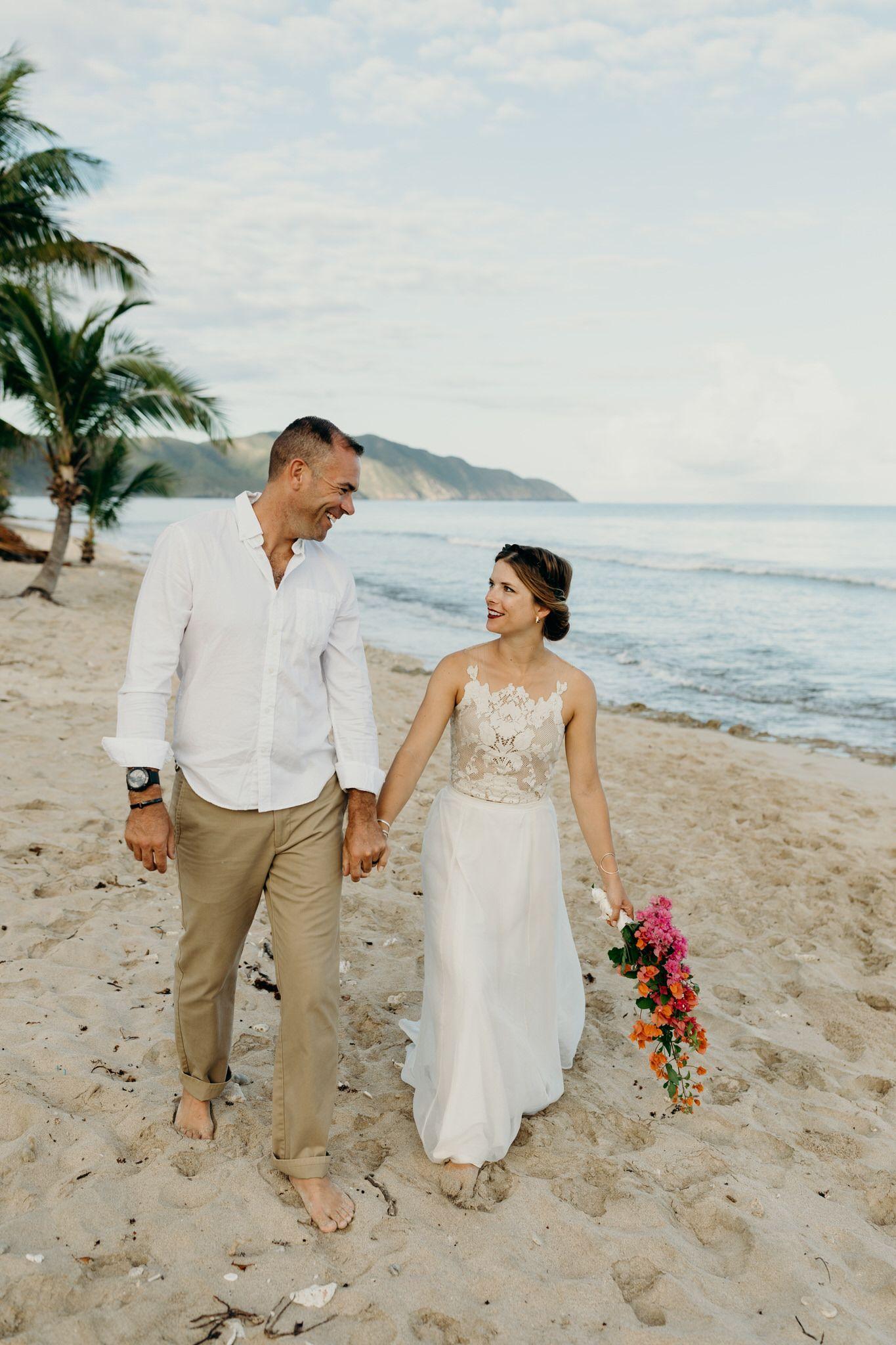 Intimate, Romantic Cane Bay Beach Elopement on St. Croix