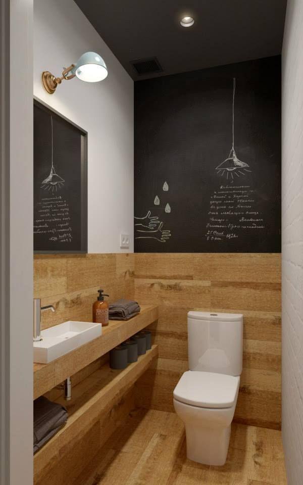 Idée #toilette, une des plus sympa à mon goût ! http://www.m-habitat ...