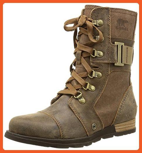 Sorel Women's Sorel Major Carly Snow Boot, Nutmeg, Flax, 10 B US -