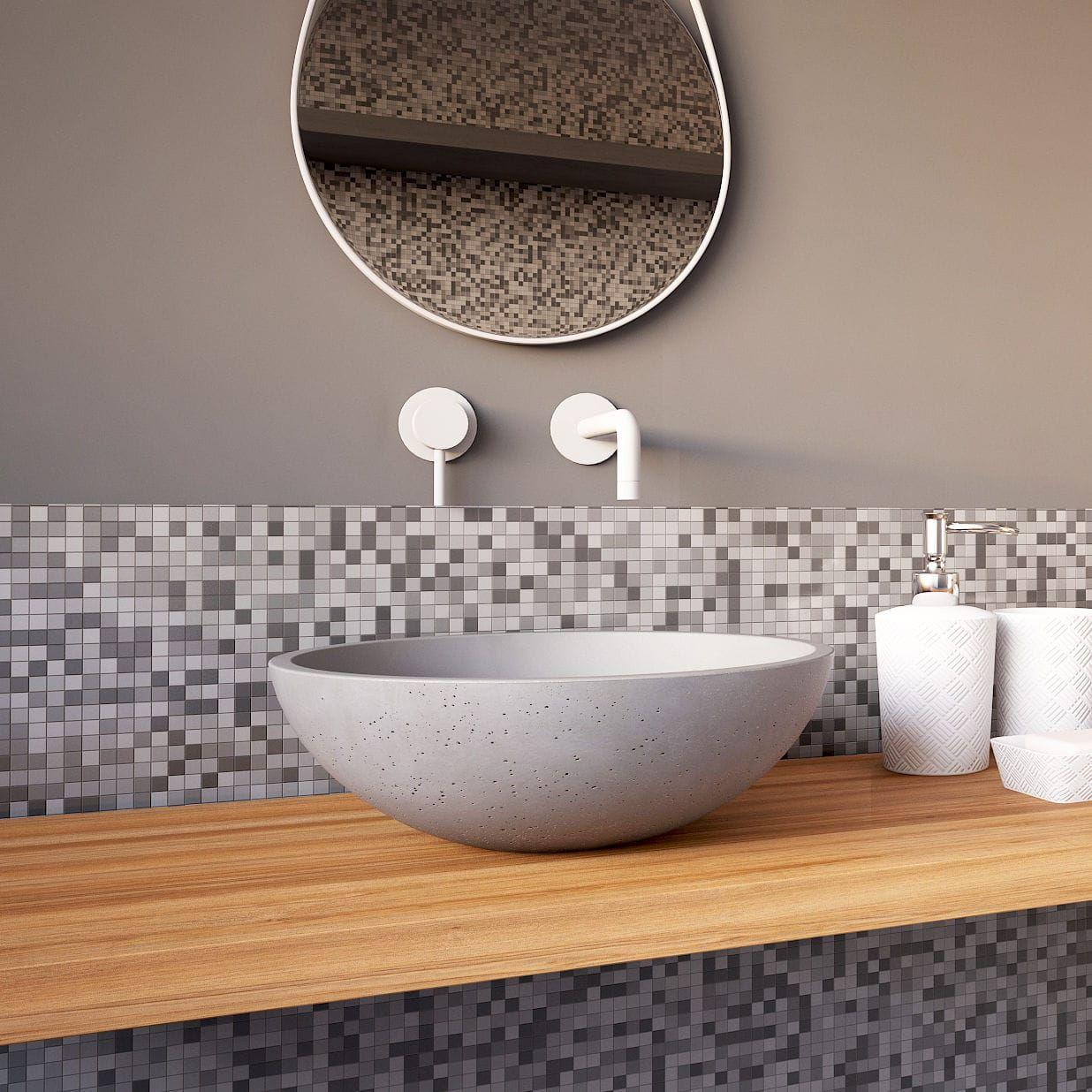 Aufsatzwaschbecken Rund Aus Beton Modern Circum 40 Urbi Et