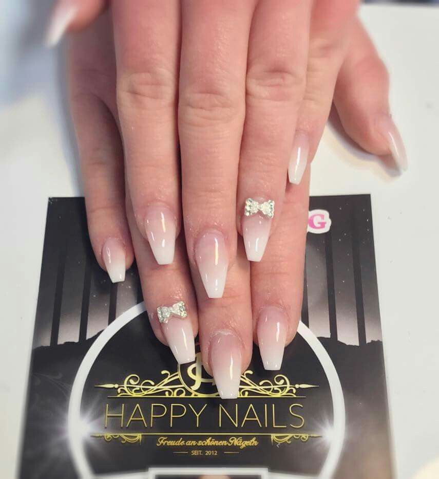 newnails #babyboom #ombre #schleife #beautiful | Nageldesign ...