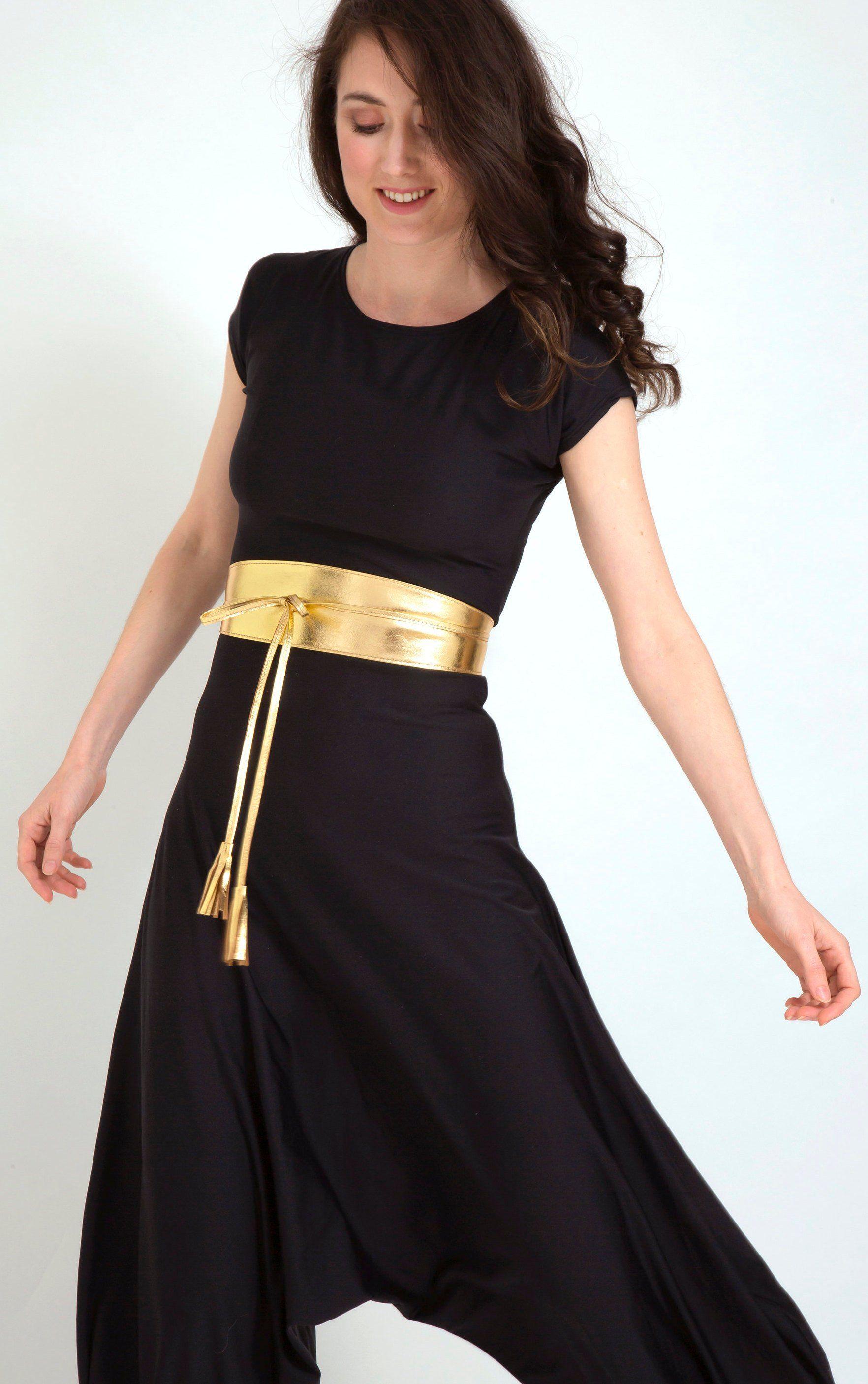 Gold belt for dress, gold waist belt, metallic leather belt