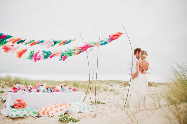 Ein erfrischend schönes Inspirationsshooting für eine Strandhochzeit | Friedatheres