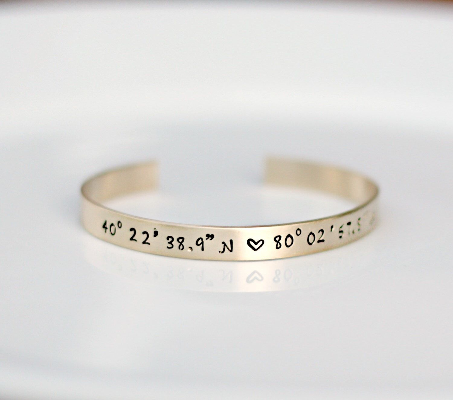 latitude longitude cuff hand stamped long lat bracelet bracelets sale products
