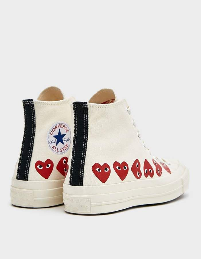 Play Converse High Multi Heart Sneaker in Off White in 2020