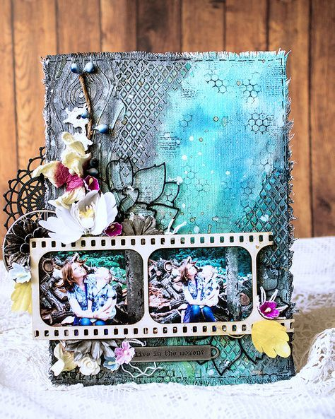 Mixed Media Canvas Tutorial By Evegeniya Zakharova Mixed