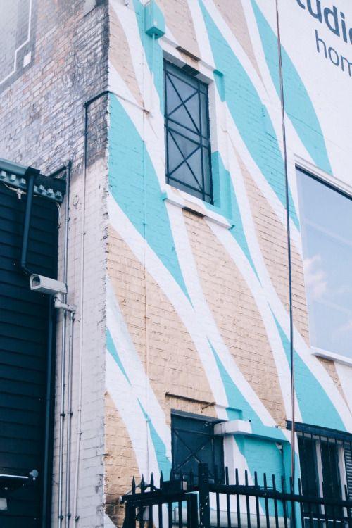 Colorido diseño de fachada.