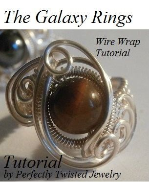 TUTORIAL, Wire Wrapped Ring, The Galaxy Ring, Advanced Wire Weave ...