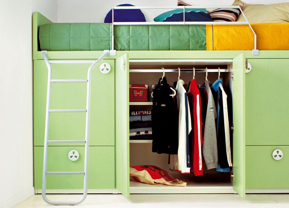 Battistella Bunker Bed With Built In Wardrobe Storage Kid Beds Bunker Bed Kids Bunk Beds