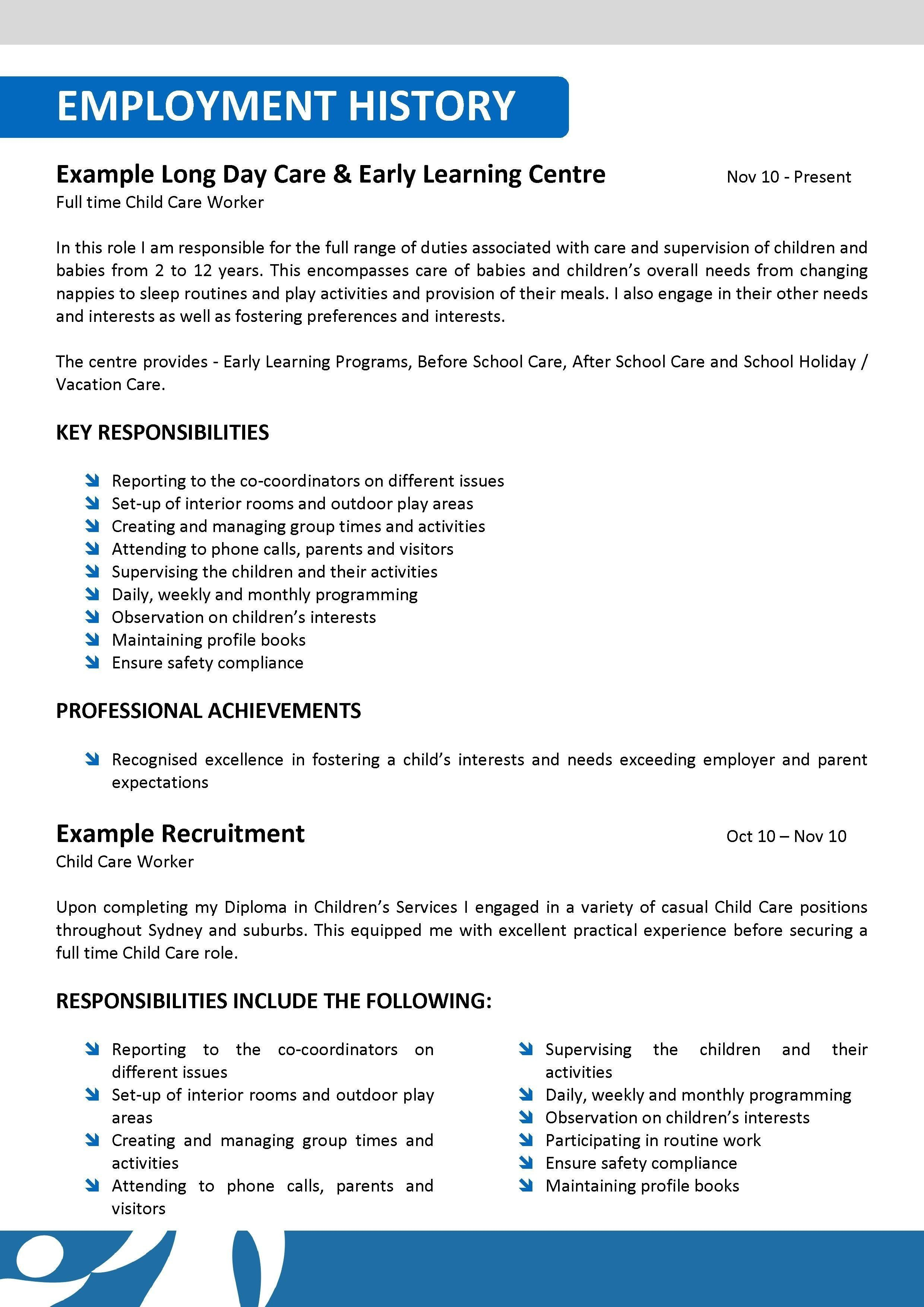 Child Care Resume Examples Awesome 15 Child Care Resume Example