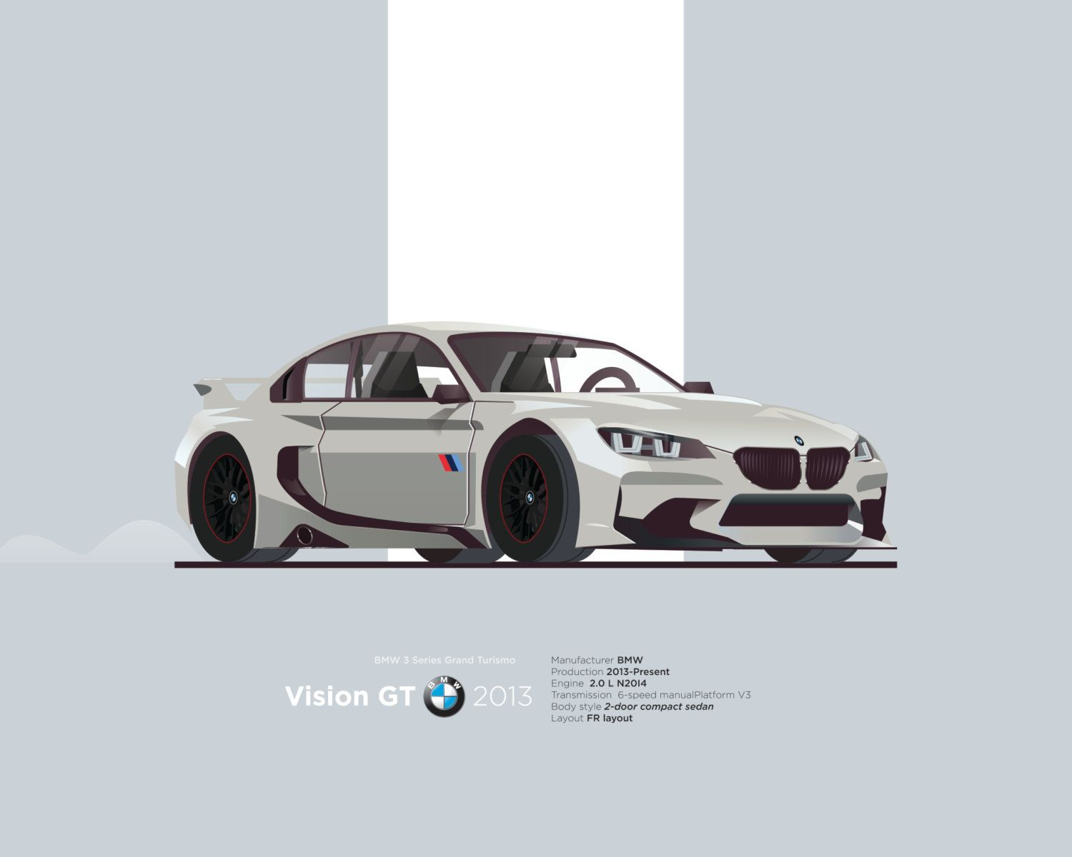 BMW Vision GT Car Poster | Gt cars, Car posters and BMW