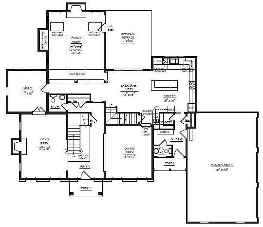mudroom three entrances floor plan google search - House Plans With Mudrooms