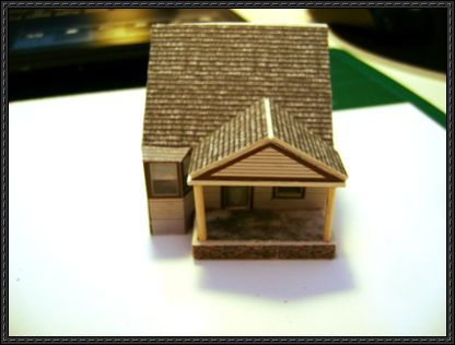 n scale building template building paper model template here an american house free building