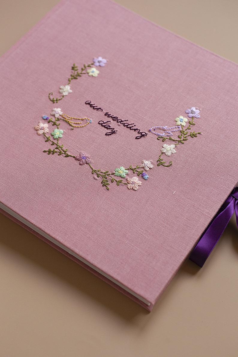 Hochzeit Leinen Fotoalbum Oder Instant Photo Gastebuch Mit Etsy In 2020 Photo Guest Book Photo Album Wedding Linens