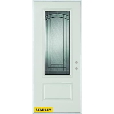 Stanley Doors 34 Inch X 80 Inch Chatham Patina 3/4 Lite 1 Panel White Steel  Entry Door With Left Inswing | The Home Depot Canada