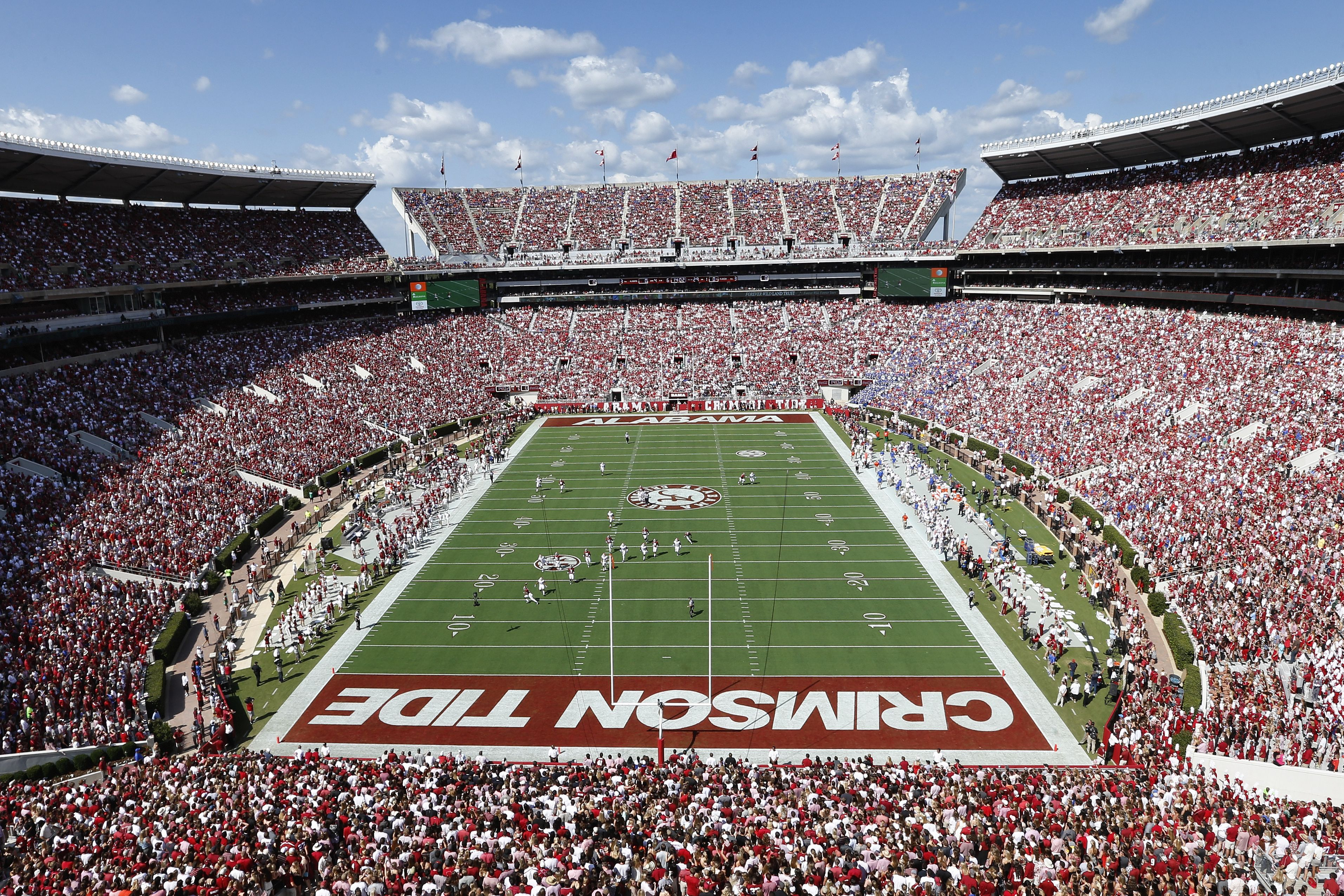 Bryant Denny Stadium Is Home To The Alabama Crimson Tide In