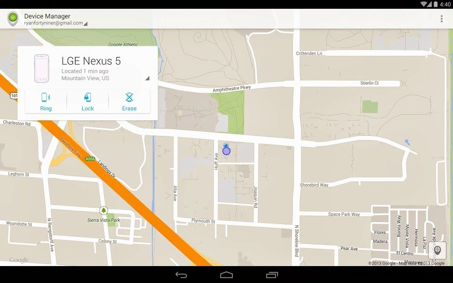 Google Launches Android Device Manager App Android