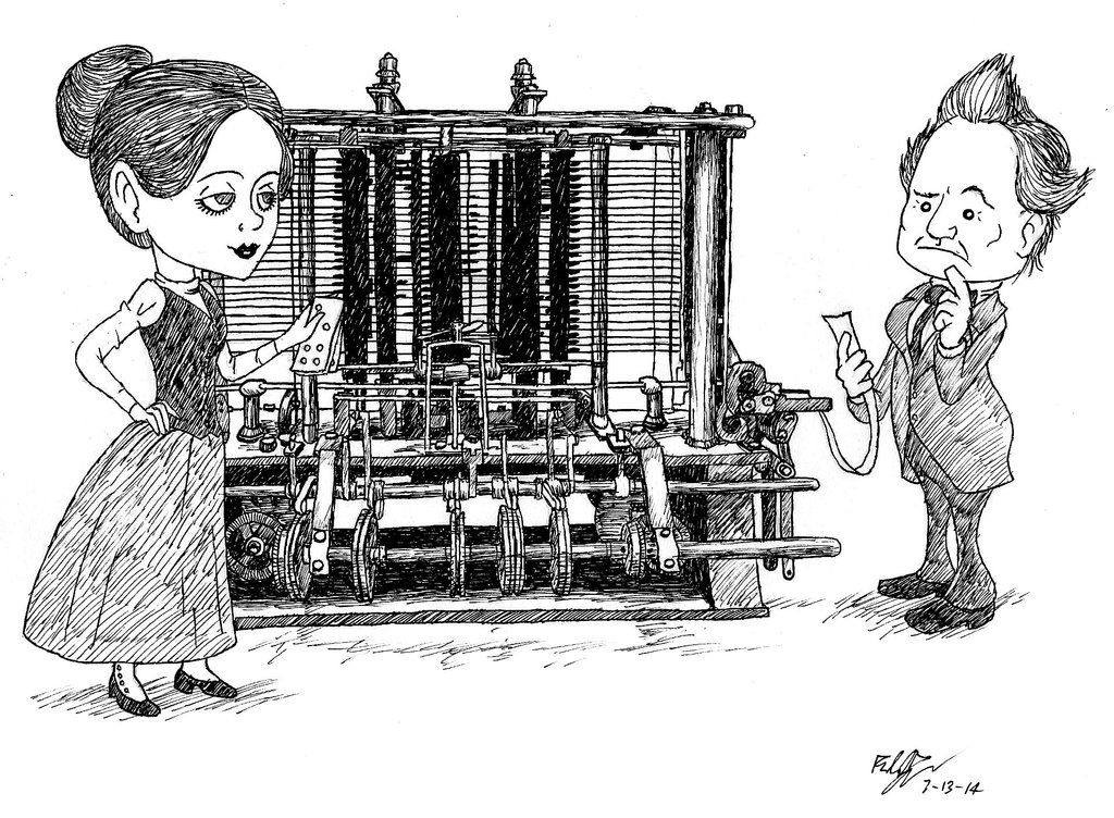 ada lovelace with charles babbage