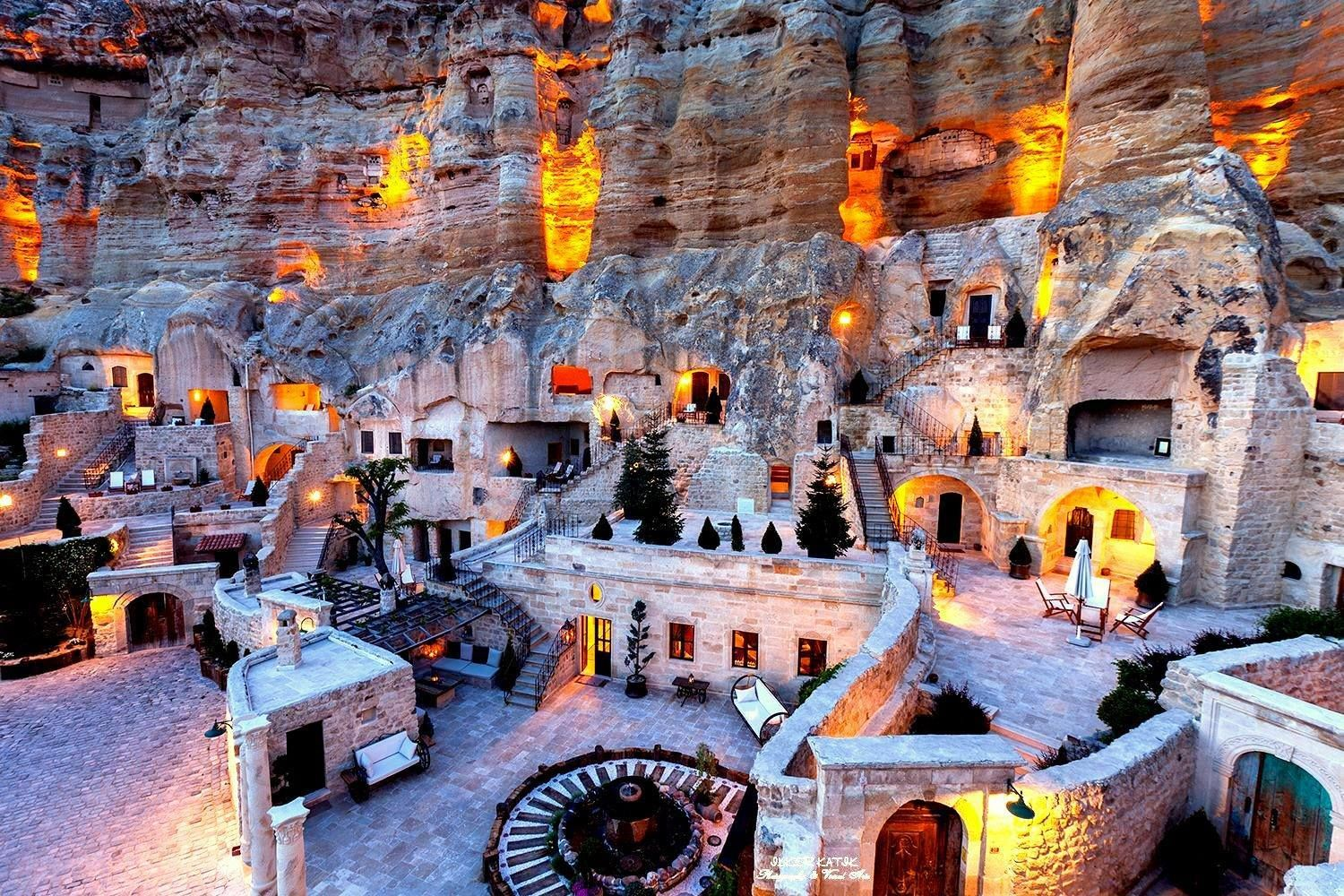 Cappadocia Cave Hotel Turkey Yunak Evleri With 30 Deluxe Rooms And Suites Is Located In Cappadocias Magical Landscape Of Fairy Chimneys