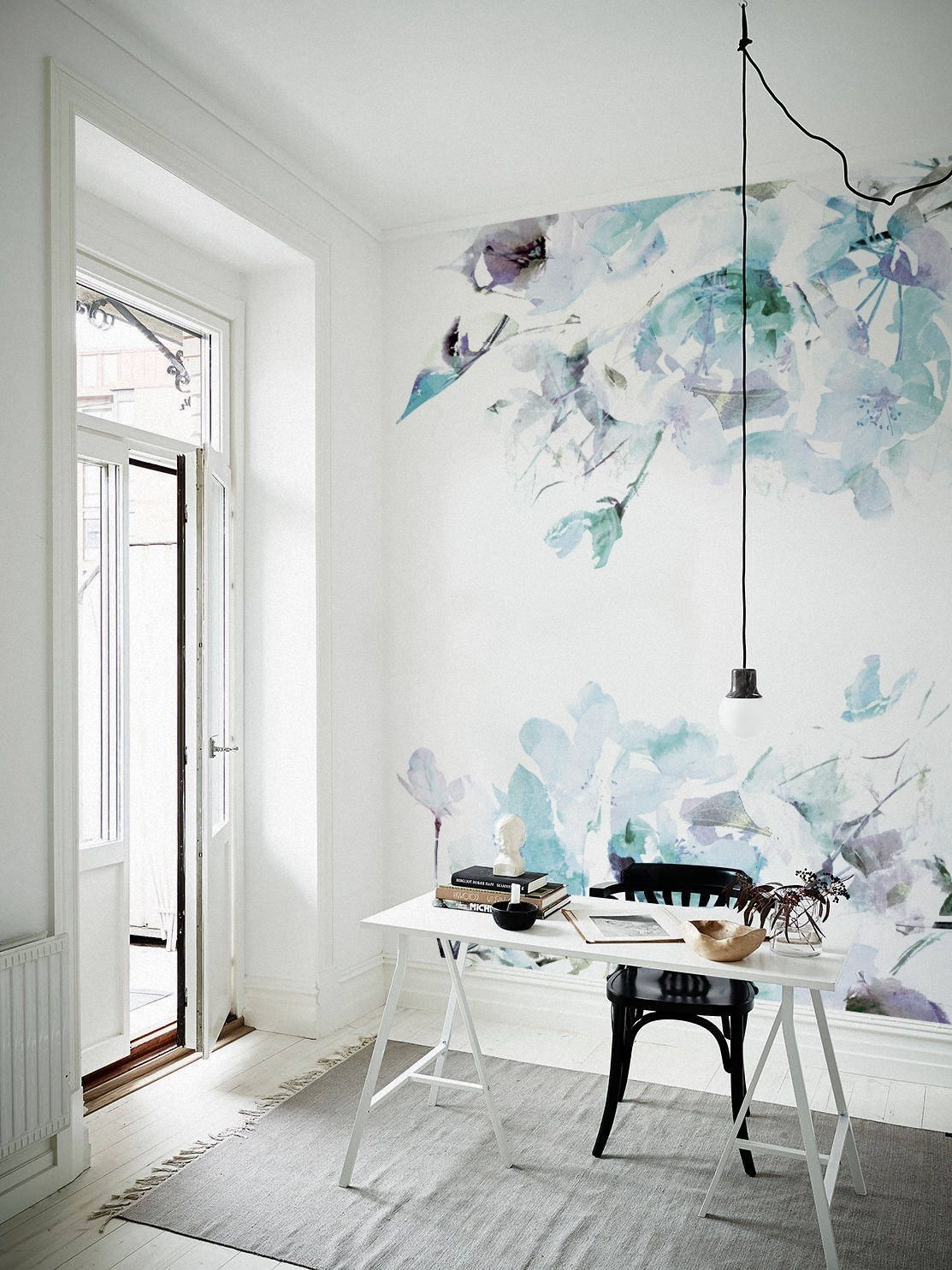 35 Spring Floral Ideas For Wall Design To Home Decoration Homeridian Com Nursery Wall Decor Watercolor Wallpaper Wall Wallpaper