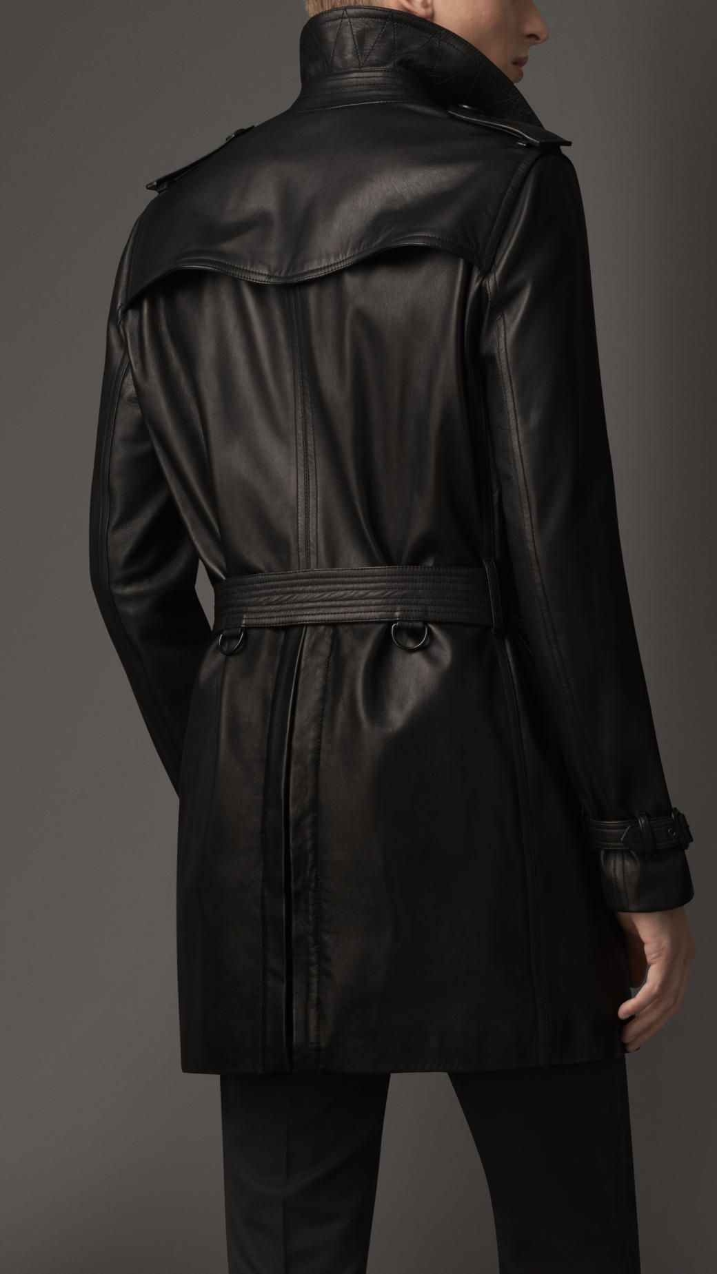 Mid-Length Lambskin Trench Coat | Burberry