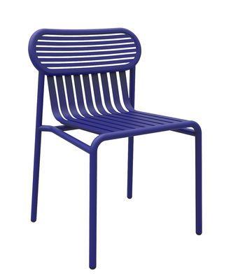 Chaise Week-end / Aluminium Bleu - Petite Friture - Décoration et ...