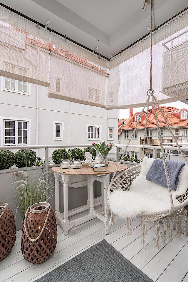 Wil je schaduw creëren op je balkon? Hang gordijnen op je balkon ...