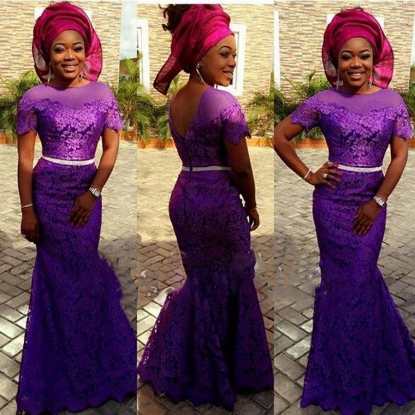 African Formal Dress Lace