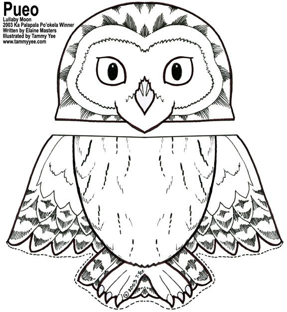 Owl Coloring Pages Free Printables Paper Bag Owl Puppet If You