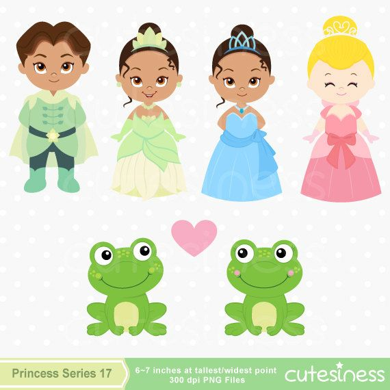 The Frog Prince Digital Clipart Priness Clipart Tiana Clipart
