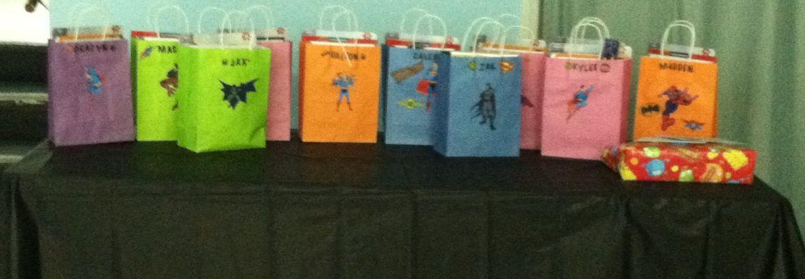 Favor Bags Superman Comic Superhero Puzzle Superhero Rock Candy Spiderman Coloring Book Batman Sticker Spiderman Coloring Batman Stickers Superhero Party