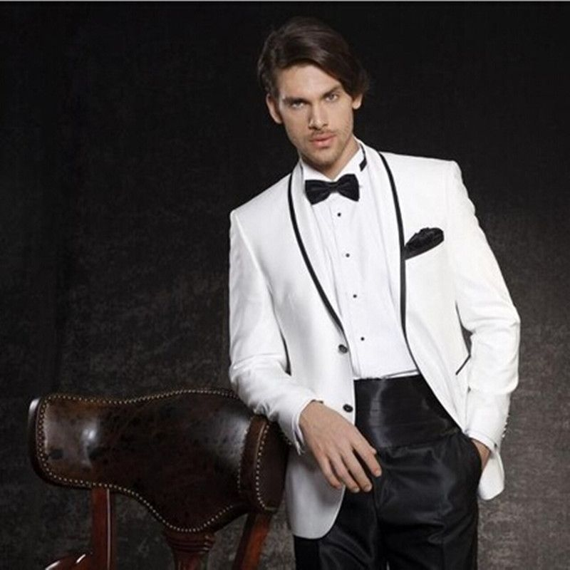 2017 white Men\'s Dinner Party Prom Suits Groom Tuxedos new Groomsmen ...