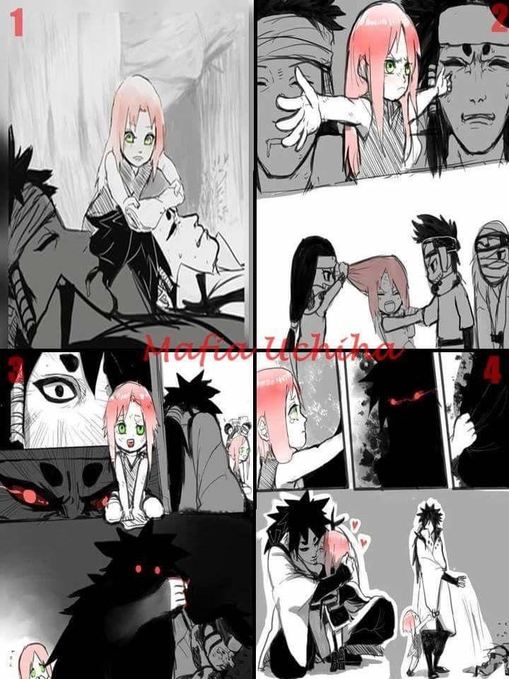 Sakura protecting Naruto (Ashura) & Sasuke (Indra) during