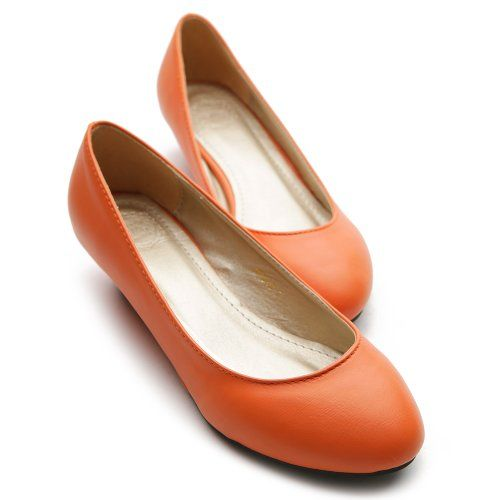 f782f99bbd1 Ollio Womens Ballet Flats Loafers Wedge Low Heels Multi Colored Shoes   orange  flats  cute