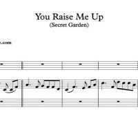 You Raise Me Up Sheet Music Secret Garden With Images Sheet Music