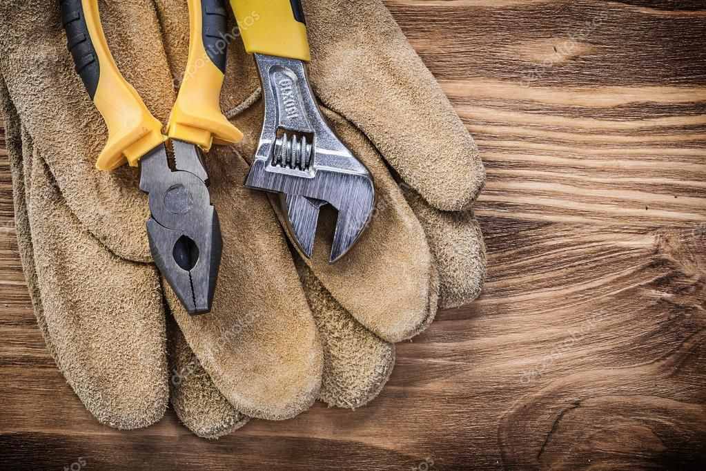 Leather safety gloves Royalty Free Stock Photos , Ad,