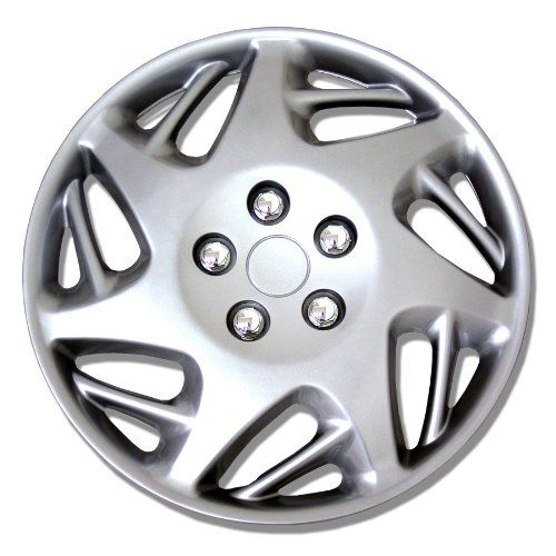 TuningPros WSC007BS15 Hubcaps Wheel Skin Cover 15Inches Silver Set of 4 -- Check out the image by visiting the affiliate link Amazon.com on image.