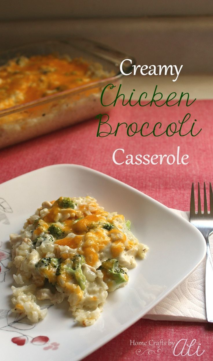 Creamy Chicken Broccoli Casserole Yummy Casseroles Chicken Broccoli Casserole Creamy Chicken