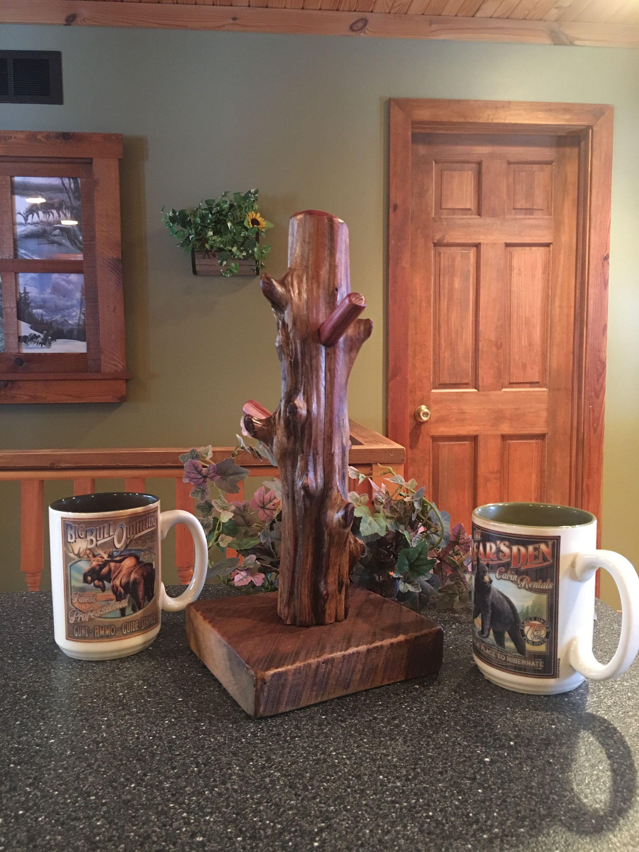 Coffee mug standcoffee tea bardriftwoodjewlery holder