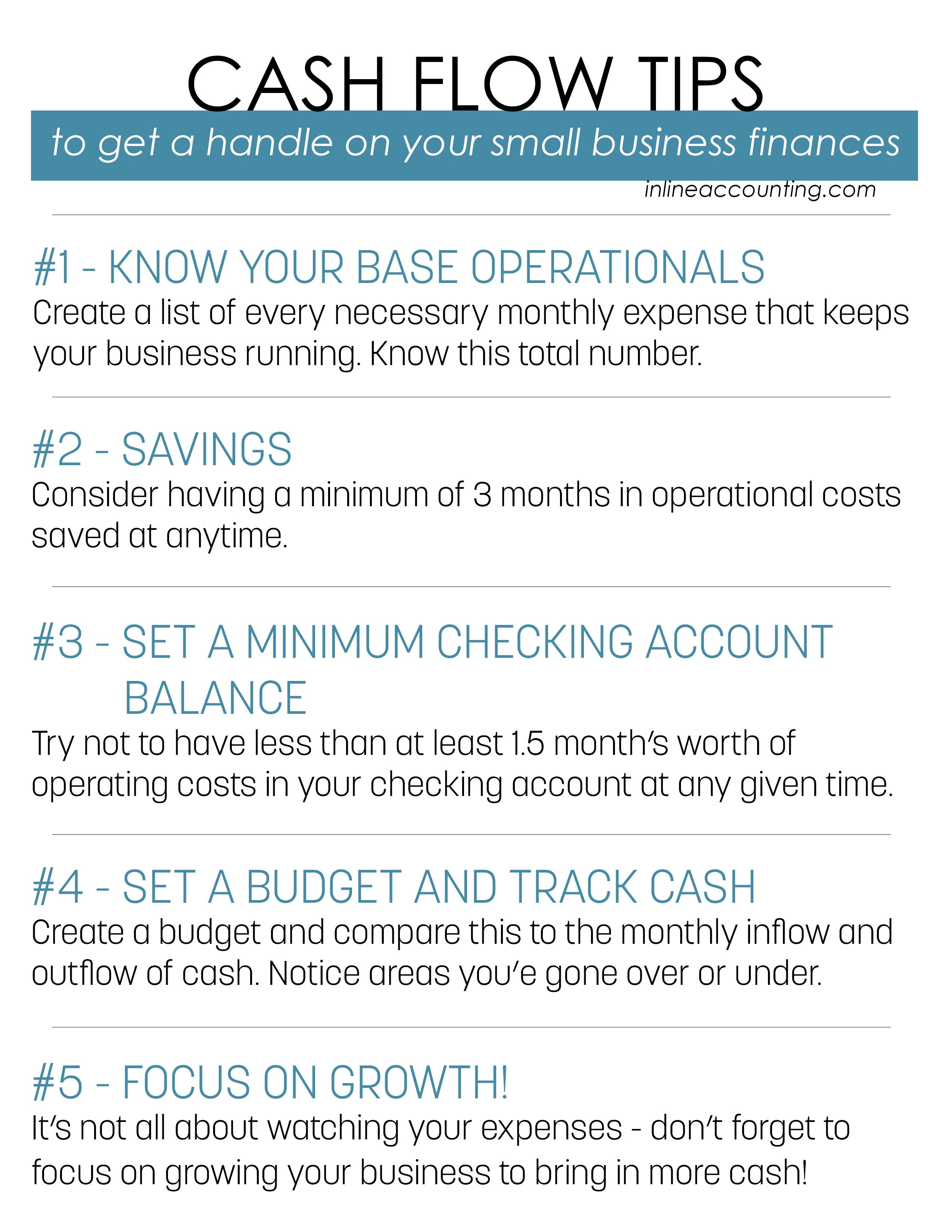 Free Cash Flow Tips Printable