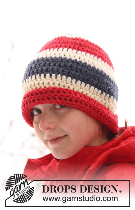 "Gorro DROPS en ganchillo / crochet en ""Alaska"". ~ DROPS Design ..."