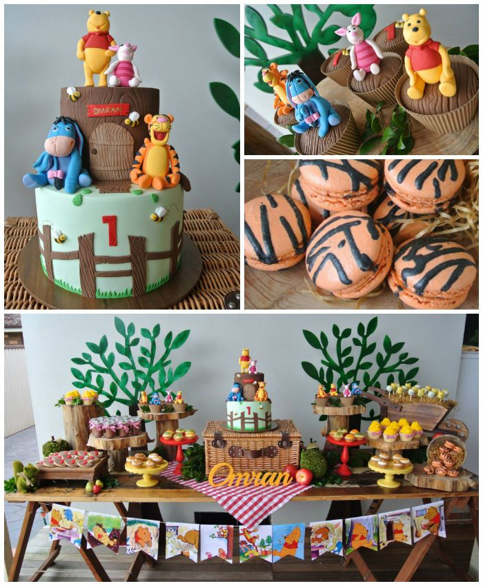 Rustic Winnie The Pooh 1st Birthday Party Liams 3rd Pinterest