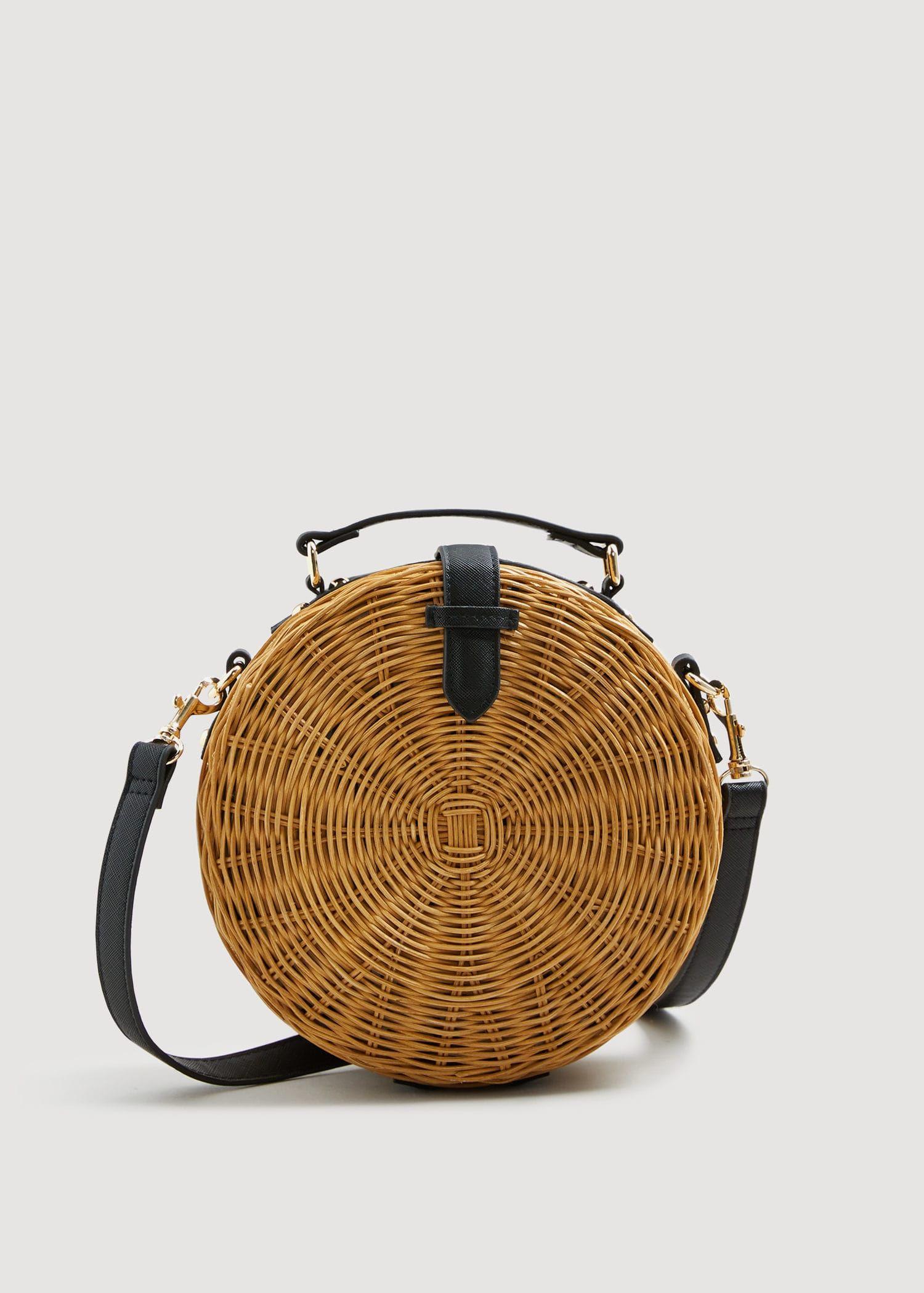 Bamboo coffer bag Mango Fashion a1076489595e