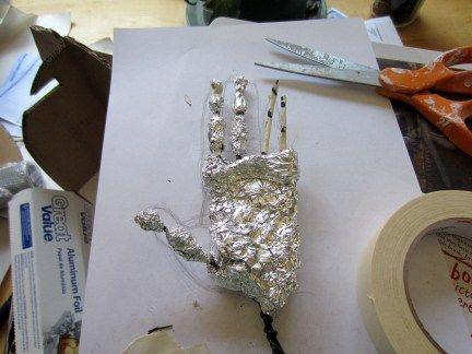 Chimpanzee Hand Armature Paper Mache Clay Polymer Clay Fairy