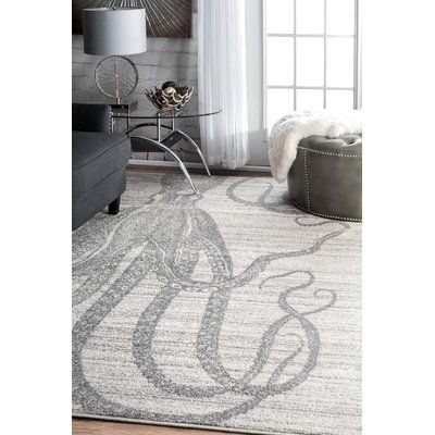 "Thomas Paul Rugs Silver/Gray Area Rug Rug Size: 7'6"" x 9'6"""