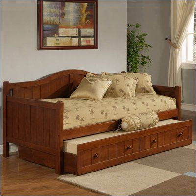 Hillsdale Staci Wood Daybed in Cherry Finish With Trundle - Great option for a guest/office space.