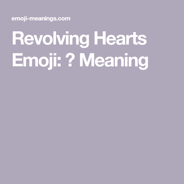 meaning of hearts emoji