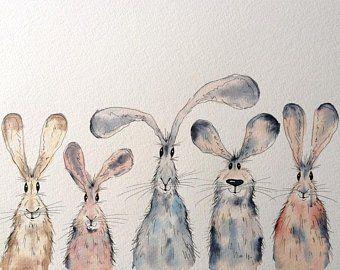 Characterful animal illustrations by HaresAndHerdw