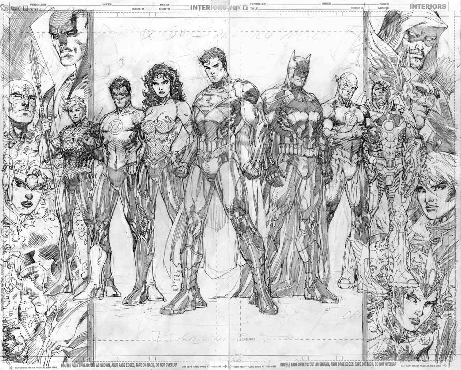 Justice League By Jim Lee Pencils Jim Lee Art Jim Lee Comic Artist