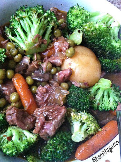 Healthy Jams' Crockpot Beef Stew!